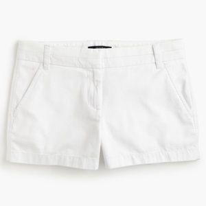 """J. Crew 3"""" Chino Shorts White 0"""